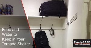 Learn about foods and liquids to keep in your custom tornado shelter