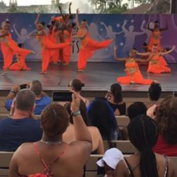 Dance students performing at Disney