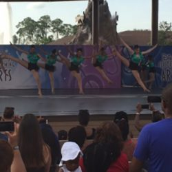 Student dance class performing at Disney