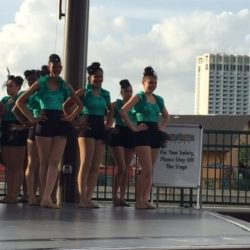 Dance studios on stage at Disney