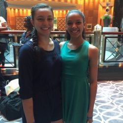 Two dance students from Fancy Feet Dance Studio