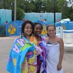 Students from Fancy Feet Dance Studio at Disney waterpark