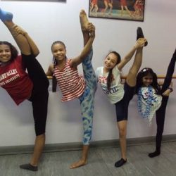 Young ballet students in dance class