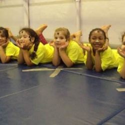 Gymnastics students at Fancy Feet Dance Studio
