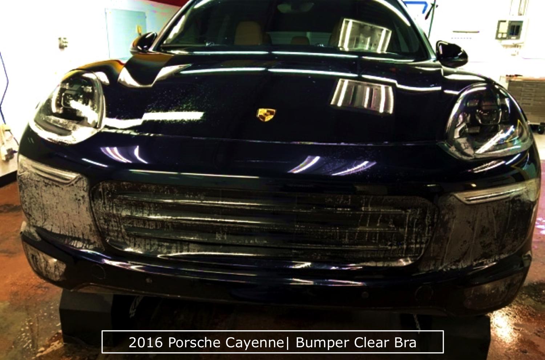 2016 Porsche Cayenne Bumper Clear Bra In Action