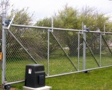commercial chain link fence with wheels