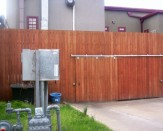 commercial wooden privacy fence