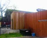 commercial wooden fence