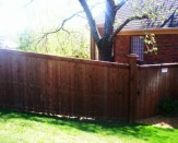 residential wood privacy fence