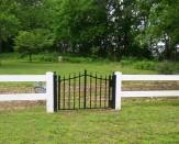 Vinyl Fence With Custom Gate