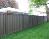 brown trex composite fence