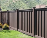 dark brown trex composite fencing