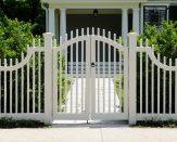 custom white vinyl fence