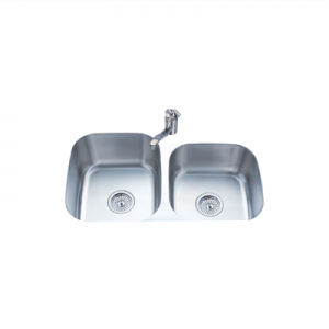 classic stainless steel double sink