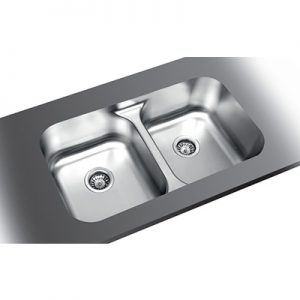 Stainless Steel Double SInk in Barbados