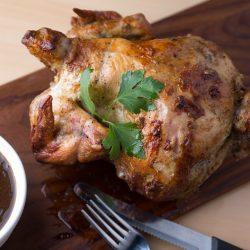Slow Cooked Rotisserie Peruvian Bourbon Chicken