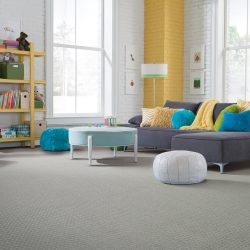 Grey Carpeting Installation - First Quality Interiors Charlotte