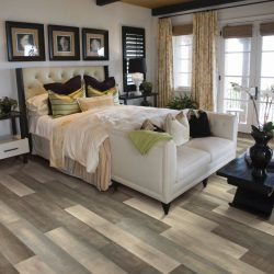 Grey and White Wood Laminate Flooring Installation - First Quality Interiors Charlotte