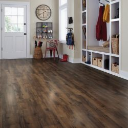 Dark Brown Wood Laminate Flooring Installation - First Quality Interiors Charlotte