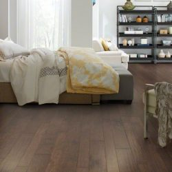 Cocoa Colored Wood Flooring Installation - First Quality Interiors Charlotte
