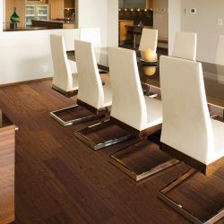 Warm Tobacco Brown Flooring Installation