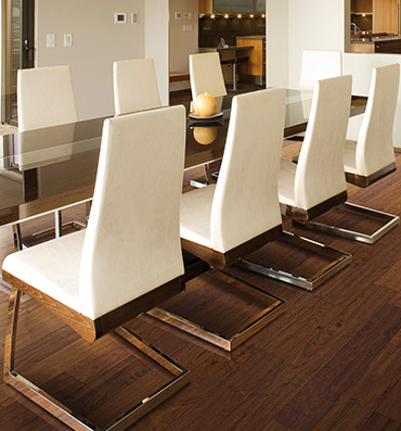Wood Flooring in Modern Dining Room