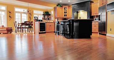 Cherry Hardwood Flooring in Kitchen