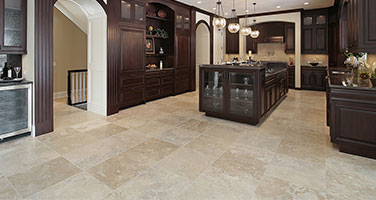 Luxurious Kitchen With Vinyl Tile Floors