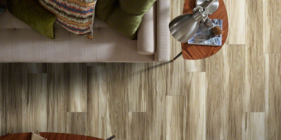 Luxury Vinyl Plank Flooring Detail