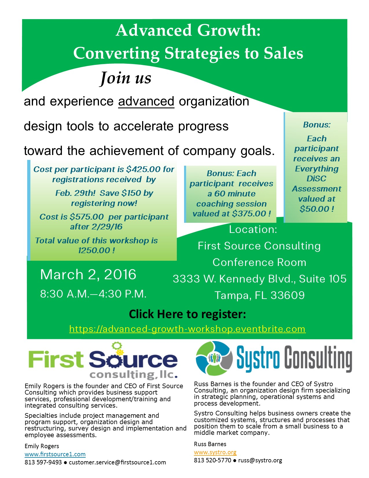 Growth Strategy Flyer Updated March 2016