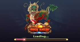 an image of a loading screen from the Fire Kirin app
