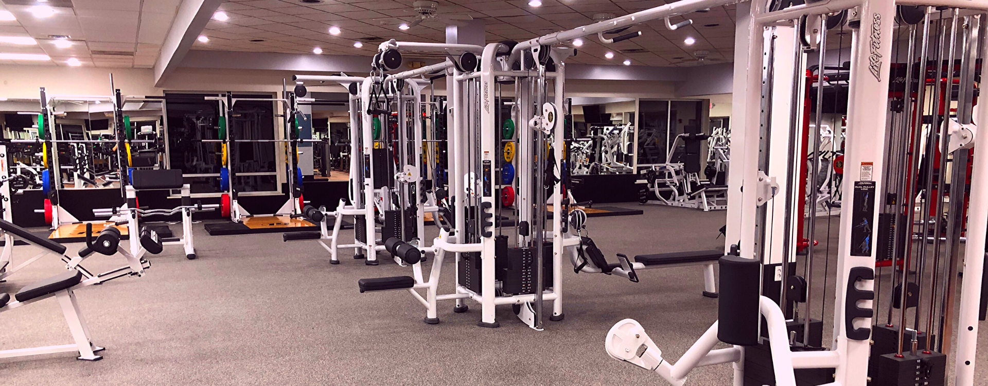 strength training cable machines at the gym in a Fitness 19 location