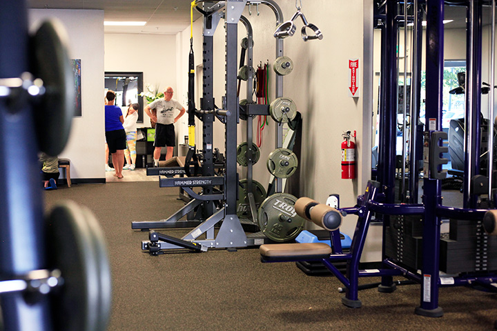 fully equipped personalized gym