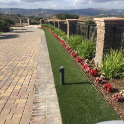 Driveway After Turf Installation - Five Star Turf Commercial