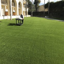 Artificial Turf Outside of a Hotel - Five Star Turf Commercial