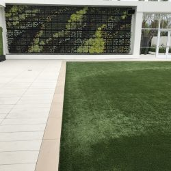 Detail of Turf Installation at Hotel - Five Star Turf Commercial