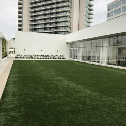 Turf Installation on Hotel Lawn - Five Star Turf Commercial