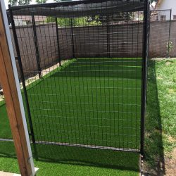 Fenced in Dog Run With Turf - Five Star Turf Commercial