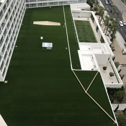Commercial Artificial Grass on Hotel Roof - Five Star Turf Commercial