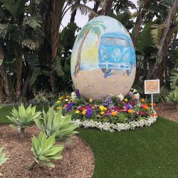 Egg Sculpture Surrounded by Turf Installation - Five Star Turf Commercial