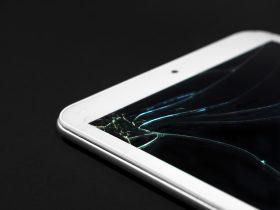 Crack spreading across the screen of iPad.