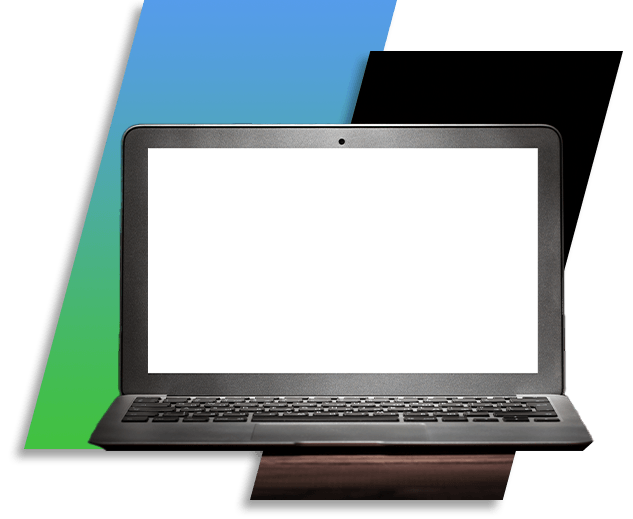 Image of a laptop with a white screen