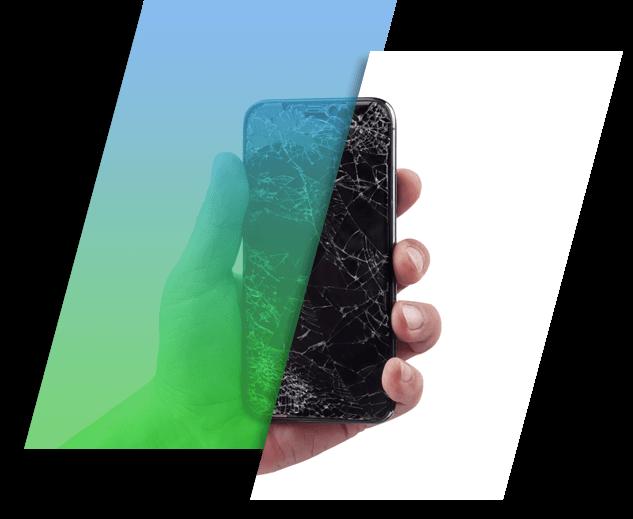 Image of a broken iPhone.