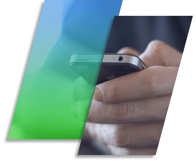 Image of a person using an iPhone.