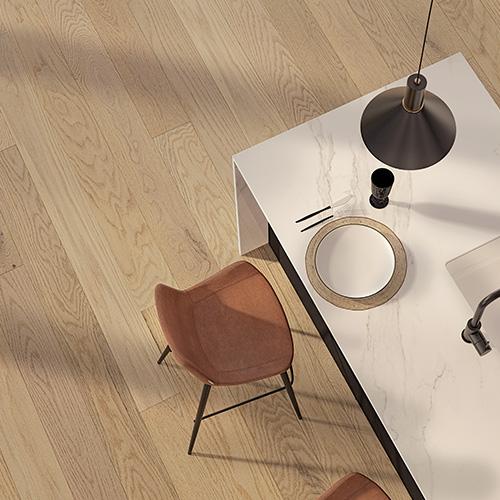 Wooden Floor Made of White Oak
