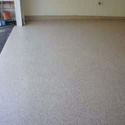 Garage epoxy flooring with flakes by FloorEver Solutions in Jacksonville