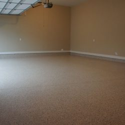Flaked epoxy garage flooring by FloorEver Solutions