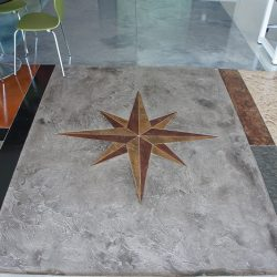 Custom concrete overlay by FloorEver Solutions in Jacksonville