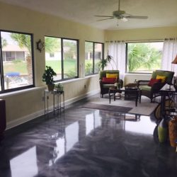 Metallic Epoxy by FloorEver Solutions sunroom