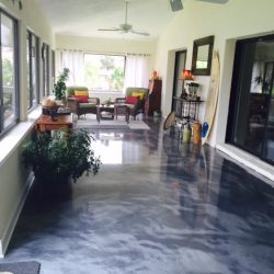Metallic Epoxy in sunroom